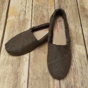 Bobs Gray Felt Shoes